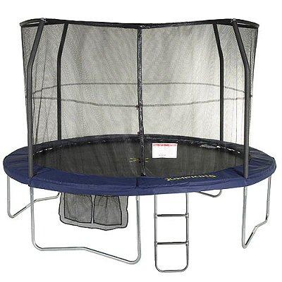 jumpking jumppod deluxe original 14ft trampoline blue pads