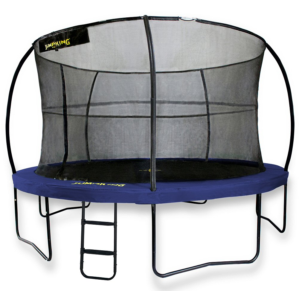 Jumpking JumpPOD Deluxe 12ft Trampoline Blue Pads