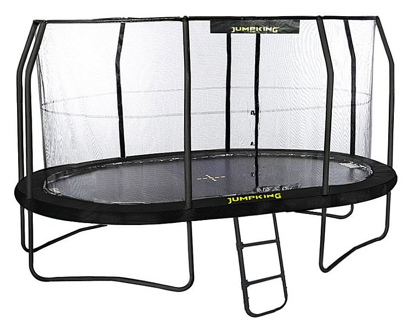 Jumpking OvalPOD 10ft x 15ft Oval-shaped Trampoline Set ...