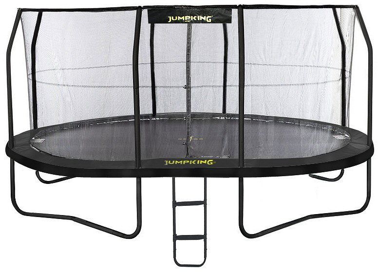Jumpking OvalPOD 14ft x 17ft Oval-shaped Trampoline Set ...