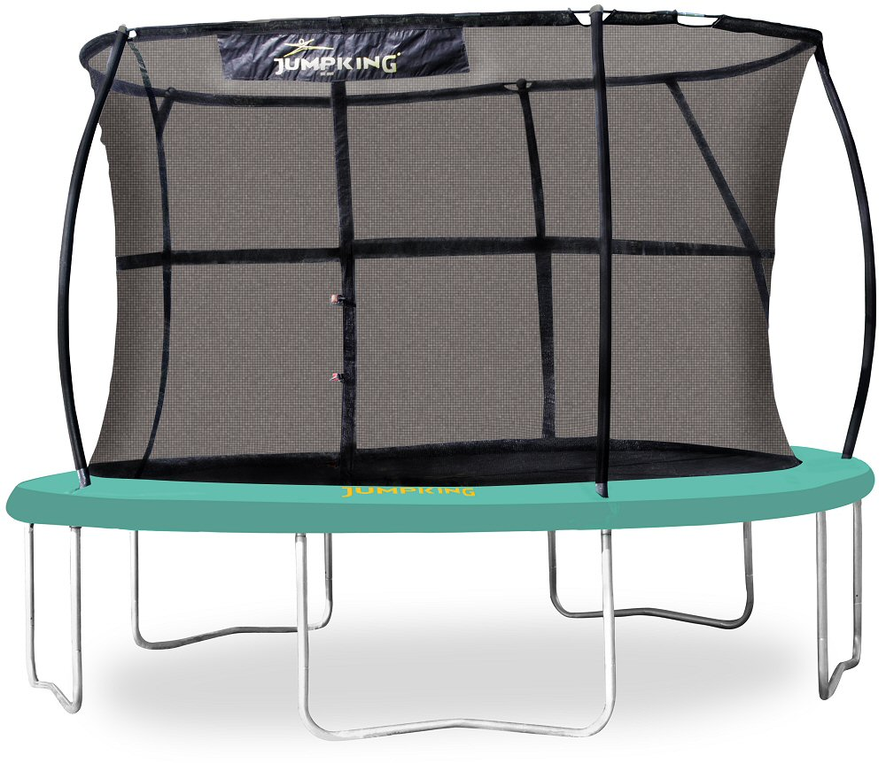 Jumpking 14ft Jumppod Deluxe Trampoline With Enclosure: Jumpking JumpPOD CLASSIC Premium 14 Ft Trampoline Set With